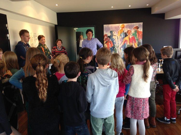 Lagere school Alken bezoek provinciehuis