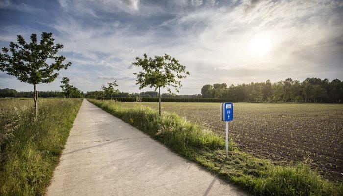 fietsroutenetwerk Limburg fietsknooppunt blauw bordje