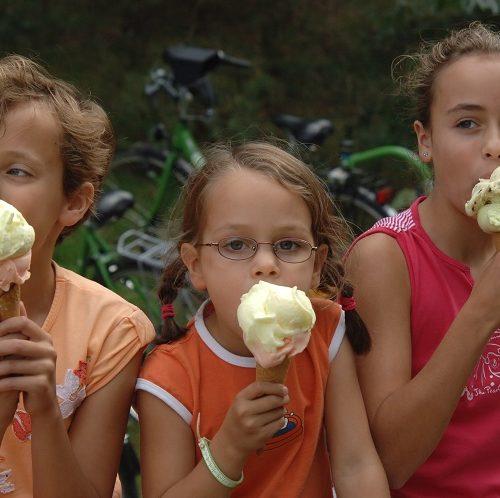 ijsjes fietsers
